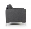 Kragelund Furniture - Shea lænestol - Mørk grå