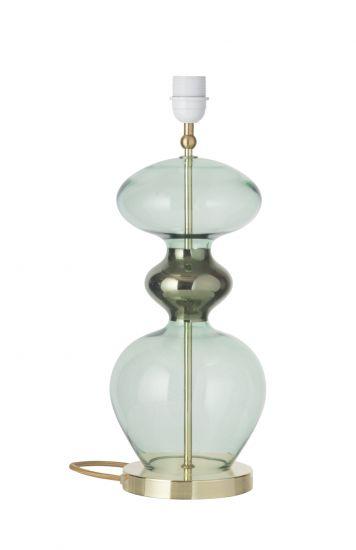 Ebb&Flow - Futura Lampfot, forrest green, Guld bas