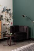 Dutchbone Flower Loungestol - Svart velour