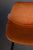 Dutchbone Franky Låg Barstol - Orange sammet
