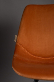 Dutchbone Franky Matstol - Orange velour