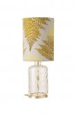 EBB & FLOW  - Pillar Lampfot, Golden smoke dimples, Guld bas