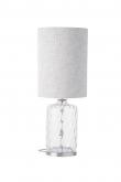 EBB & FLOW  - Pillar Lampfot, Klar dimples, Silverbas