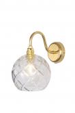 EBB & FLOW  - Rowan Krystal Vägglampa, Guld, large check Ø15,5cm