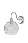 EBB & FLOW  - Rowan Krystal Vägglampa, Silver, check medium stripe