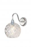 EBB & FLOW  - Rowan Krystal Vägglampa, Silver, medium check