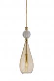 EBB & FLOW  - Smykke Pendel, Golden smoke m. Krystal ball