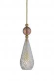 EBB & FLOW  - Smykke Pendel, Krystal m. obsidian ball, Guld
