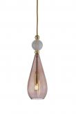EBB & FLOW  - Smykke Pendel, obsidian m. Krystal ball, Guld