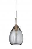 EBB & FLOW  - XL Lute Pendel, smokey grå / platin