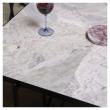 HANDVÄRK - Matbord 184x96 - Grå marmor