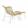 Kave Home - Crowley Loungestol m. Fotpall - Natur