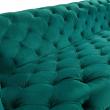 Kave Home - Maisha 3-sits Soffa - grön sammet