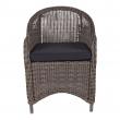 Real Trädgårdsstol i grå polyrotting