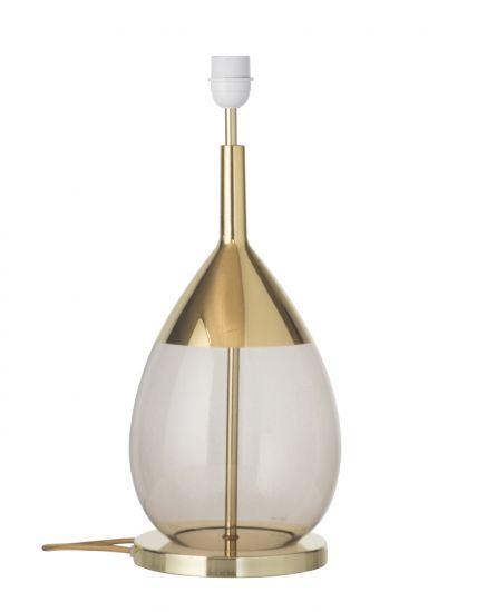 Ebb&Flow - Lute Lampfot, Chestnut/Guld, Guld bas