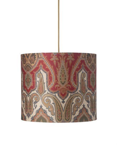Ebb&Flow - Lampskärm, brocade, green/Guld, Ø35, taklampa
