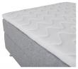Tällberg Kontinentalsäng Medium/Medium med 5 komfortzoner, Ljusgrått tyg, 120x200 