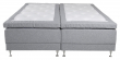 Vansbro Ställbar säng Medium/Medium med 5 komfortzoner, Ljusgrått tyg, 180x200  