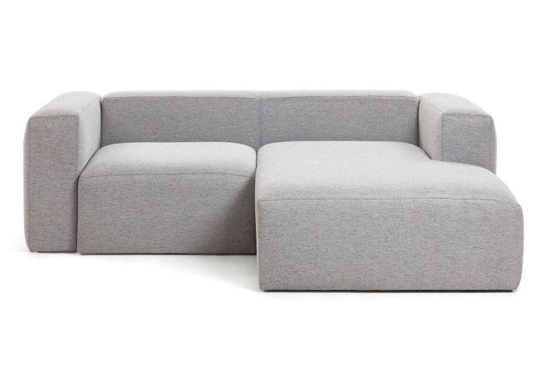 LaForma - Blok 2-sits Soffa m. högervänd divan  - Ljusgrå