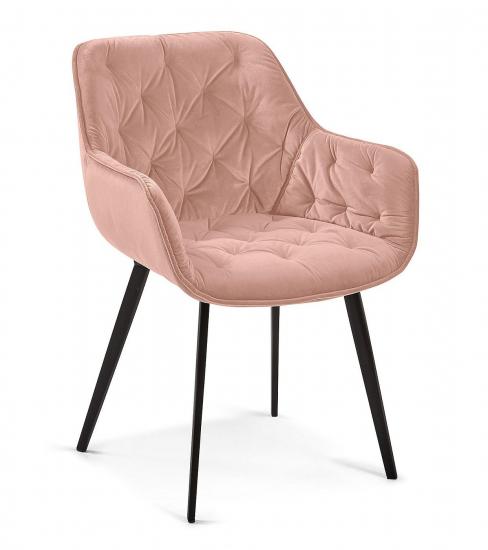 Kave Home - Muller Matstol - Pink sammet