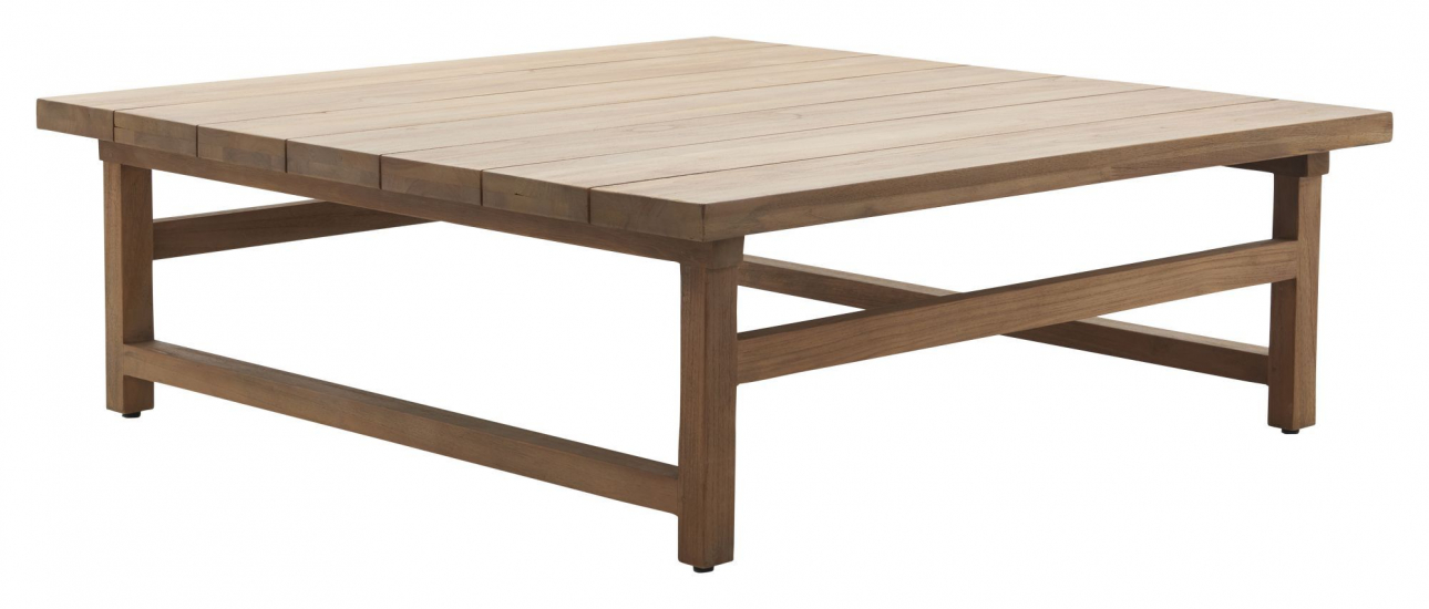 Sika-Design Julian Loungebord - Återvunnen Teak, 120x120