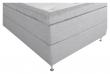 Furudal Kontinentalsäng Medium med 7 komfortzoner, Ljusgrått tyg, 120x200 
