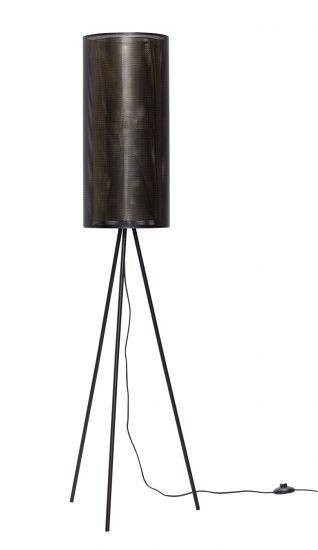 Hübsch Golvlampa H130 - Svart/Mässing
