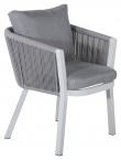 Virya Trädgårdsstol, Vit m. grå dyna
