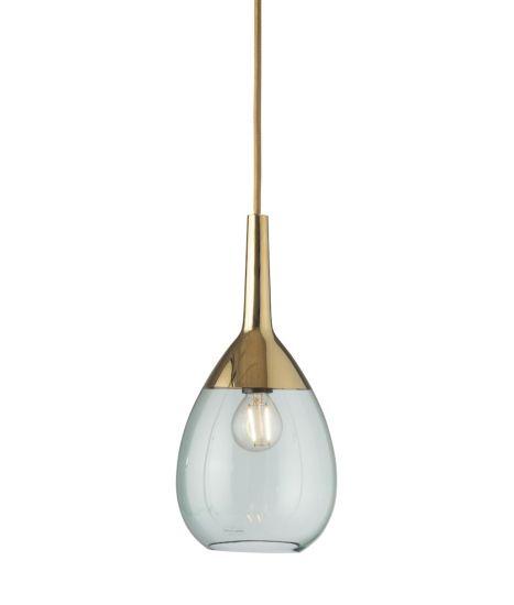 Ebb&Flow - Lute Pendel, S, green / Guld