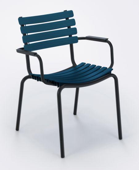 HOUE - CLIPS Trädgårdsstol - Midnight Blue/Svart
