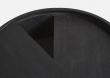 WOUD - Arc Sidobord, svart m. grå laminat, Ø42