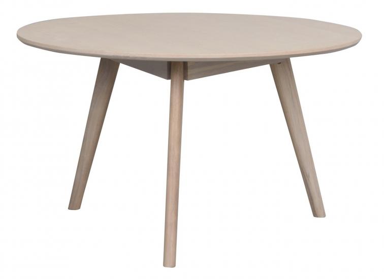 Yumi Soffbord, vitpigmenterad ekfanér, Ø90