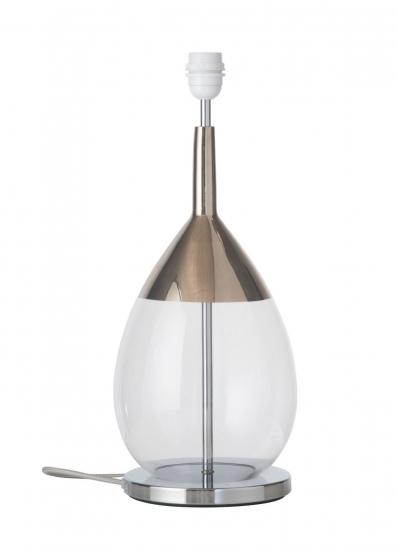 EBB & FLOW  - Lute Lampfot, Klar/platin, Silverbas