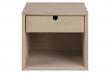 Lustra Nattduksbord m. 1 låda - Vitpigmenterad Fanér