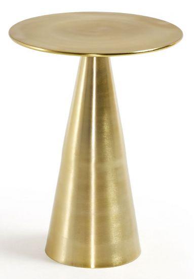 Kave Home - Rhet Sidobord Ø38,5 - Guld Metall
