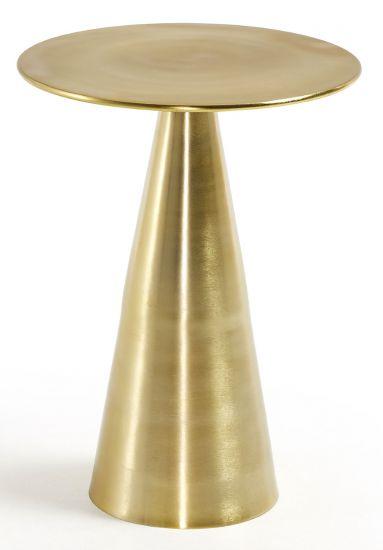 LaForma - Rhet Sidobord Ø38,5 - Guld Metall