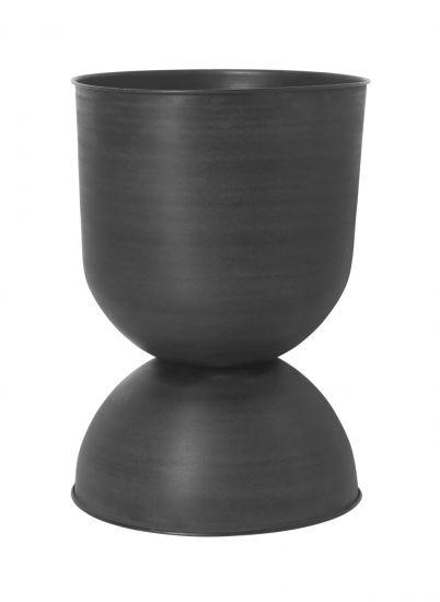 Ferm Living - Hourglass Kruka L - Svart/Mörkgrå