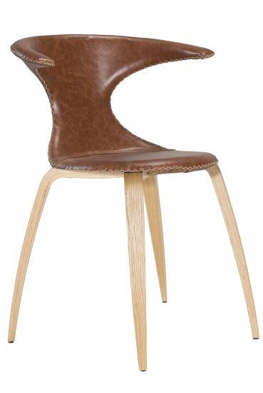 Danform - Flair Matstol - Brunt Läder  - Ek