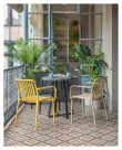 Kave Home Isabellini Trädgårdsstol – Gul plast