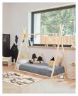 Kave Home Maralis Kids Teepee Sängram - Ask, 140x70