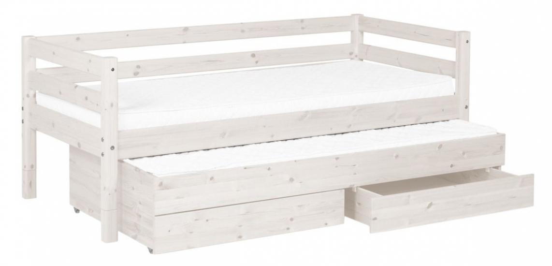 FLEXA Classic Barnsäng m. sänglådor - Vit