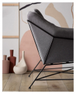 Kave Home - Brida 2-sits Soffa - Graphite