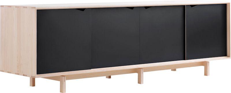 Andersen Furniture - S1 Skänk - Såpabehandlad ek/svart
