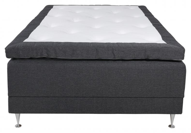 Vansbro Ställbar säng Fast med 5 komfortzoner, Mörkgrått tyg, 120x200  