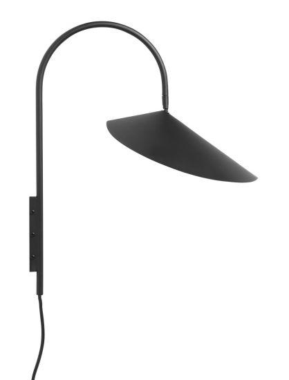 Ferm Living - Arum Vägglampa - Svart