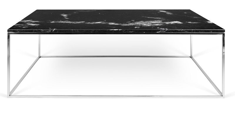Temahome - Gleam Soffbord - Svart m/krom ben 120 cm