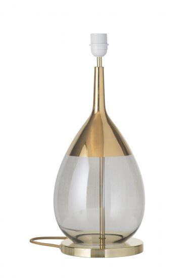 Ebb&Flow - Lute Lampfot, smokey grå/Guld, Guld bas