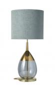 EBB & FLOW  - Lute Lampfot, topaz blue/Guld, Guld bas