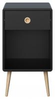 Softline Nattduksbord med 1 låda, Svart