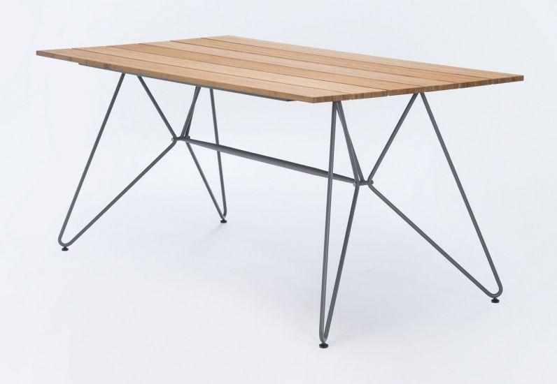 HOUE - SKETCH Trädgårdsbord 160x88 - Bambu/metalll